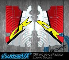 HONDA CR RAD LOUVRE GRAPHICS RADIATOR DECALS CR125 CR250 2002-2012