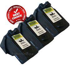 3pk PG-210XL PG210XL Black Ink Cartridges for Canon MP495 MX320 MX340 Printer