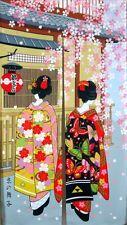 Noren Japanese Curtain Tapestry Kyoto Geisha Sakura Interior Doorway Japan Made