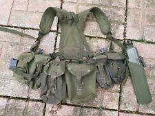 British Army  OLIVE PLCE Webbing Yoke Belt Four Pouches Grade 1