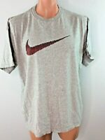 Vintage 90s Nike T-shirt Swoosh Heather Gray sz L USA MADE