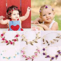 Baby-Mädchen-Kleinkind-Kind-elastisches Blatt-Blumen-Haar-Band-Stirnband