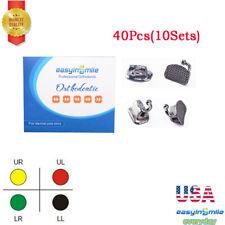 40pc Dental Orthodontic Bondable Buccal Tube Bracket Mbt Roth 022 1st 2nd Molar