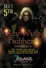 RAY WYLIE HUBBARD 2018 OKLAHOMA CITY CONCERT TOUR POSTER - Americana, Country