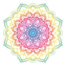 Calm Colourful Mandala Design Sticker Laptop Car Fridge Wall Art Decal Home