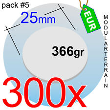 300x ROUND CLEAR ACRYLIC BASE 25mm REDONDA METACRILATO SOCLE ROND WAR HAMMER