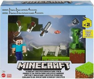 Minecraft Scaredy Creeper Adventure Story Pack with Figures Weapons Accessories
