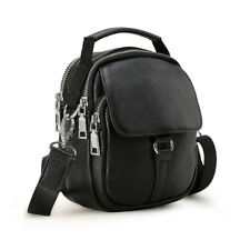 Men's Leather Small Fanny Pack Shoulder Sling Bag Sports Running Waist Belt Bag