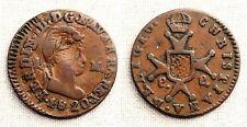 España-Fernando VII. 1 Maravedis 1820. Pamplona. MBC/VF. Cobre 2 g. Muy escasa