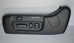 2001-2006 LEXUS LS430 SEAT COVER TRIM FRONT LEFT DRIVER SIDE SWITCH BLACK OEM