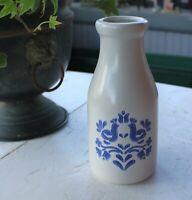Yorktowne Stoneware Milk Bottle with Birds