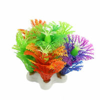 Green Stamen Plastic Snowflake Shape Fish Tank Aquarium Landscaping 2.1""