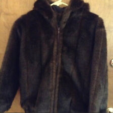 Girls Hooded Faux Fur Sable Parka Size S By Fabulous Fur