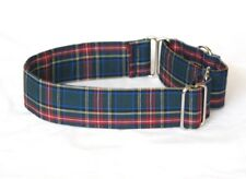 "1.5"" Martingale Dog Collar Blue, Red, Green & Gold Plaid"