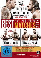 WWE The Best Pay Per View PPV Matches 2012 3x DVD DEUTSCHE VERKAUFSVERSION