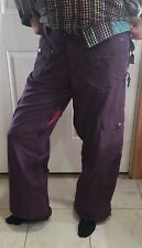 Burton Women Snowboard Pants Purple Size M Adjustable waist