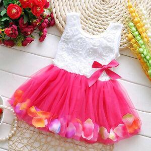 Kids Baby Girls Toddle Party Tutu Dress Wedding Party Birthday Princess Dresses
