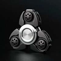 BLACK-UFO CKF Hand Fidget Spinner Aluminum Alloy EDC Finger Gyroscope Focus Toy