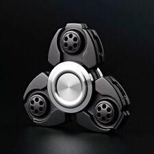 BLACK-UFO CKF Hand Fidget Spinner Aluminum Alloy EDC Finger Gyroscope Focus Toy