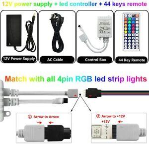 44 Key IR Remote Control RGB Control Box DC 12V For LED 5050 Strip power supply