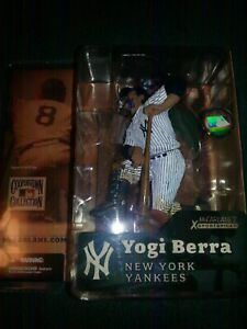 Yogi Berra HOF NY Yankees signed McFarlane Cooperstown Figure RARE UNIQUE