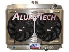 CR3219MPK ALUMI-TECH 1967-1970 FORD MUSTANG DIRECT FIT RADIATOR W/ SPAL FANS