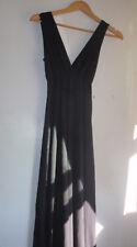 Lipsy Women's Black V Neck Empire Tank Long Maxi Dress, Size Small