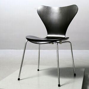 1x Stuhl 3107 Arne Jacobsen, Fritz Hansen schwarz Serie 7 Chair, 2006