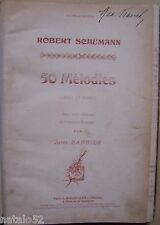 ) livre partition 50 MELODIES - Robert Schumann - chant et piano