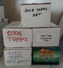 "6 TOPPS, various 2000 yeaars, FACTORY ""OPEN""  FOOTBALL SETs  - FREE SHIP!"