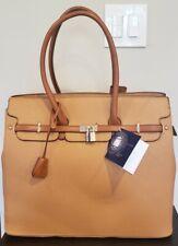 Adrienne Vittadini Workbook Handbag Tote Tan