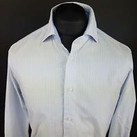 Tommy Hilfiger Mens Shirt 40 15 3/4 (MEDIUM) Long Sleeve Blue Regular Fit Check