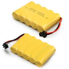 2pcs 700mAh 6V Ni-Cd Rechargeable Battery SM 2Pin Plug AA  Battery Toy Car/Boat