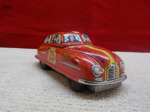 Vintage 1950's MARX Tin Friction Fire Chief Toy