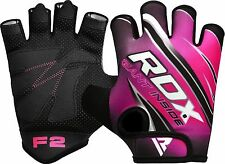 RDX Weight Lifting Gym Gloves Strap Training Glove Grip Fitness Workout Strength