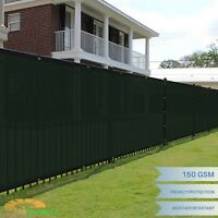 4' 5' 6' 8' FT Green Privacy Fence Screen Cover Mesh Garden Yard Home Commercial