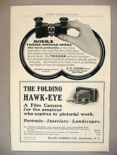 Goerz Opera Glasses & Blair Folding Hawkeye Camera PRINT AD - 1903