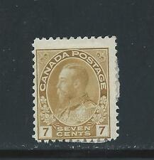CANADA KING GEORGE V ADMIRAL 7 CENTS YELLOW OCHRE # 113 MH  BIG SALE