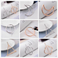 Fashion Geometric Moon Hair Clip Hairpin Snap Barrette Bobby Hairpin Stick Claw