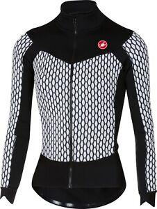 Castelli Women's Sfida Long Sleeve Thermal Cycling Jersey White/Black Small