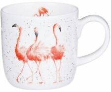 Royal Worcester Wrendale flamingo mug - pink ladies, fine bone china cup