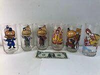 Set of 6 Vintage 1977 McDonald's Glasses feat. Mayor McCheese & Ronald McDonald
