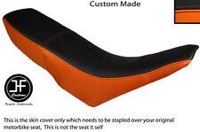 ORANGE & BLACK VINYL CUSTOM FITS GILERA GSM 50 DUAL SEAT COVER ONLY