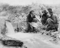 OLD WEST PANNING FOR GOLD IN DAKOTA 1889 11x14 SILVER HALIDE PHOTO PRINT