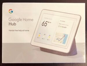"""Google Home Hub with Google Assistant Smart 7"""" Display Chalk Grey or Chalk White"""