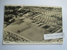 More details for manchester levenshulme girls high school aerial view rp postcard