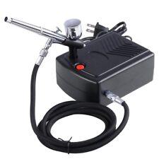 Pro Makeup Airbrush Kit 0.3mm Dual-Action Spray Gun Air Compressor Tattoo Nail