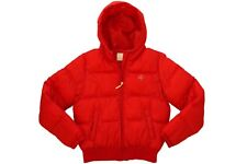 SOUTH POLE GIRLS KIDS RED HOODED PUFFER WINTER JACKET LARGE FULL ZIPPER