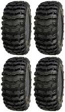 Four 4 Sedona Buzz Saw ATV Tires Set 2 Front 25x8-12 & 2 Rear 25x10-12