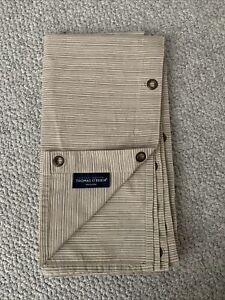 Thomas O'Brien Shower Curtain Vintage Modern Fabric Textured Stripe Tan VGC